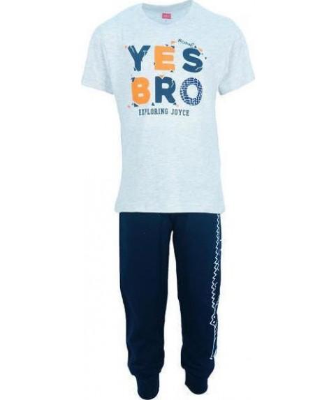 παιδικό σετ joyce γκρι/μπλε για αγόρι 201218-1